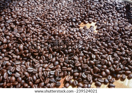 roasted coffee beans, can be used as a background  #239524021