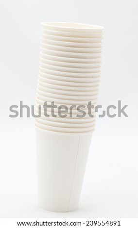 paper cups on a gray background #239554891