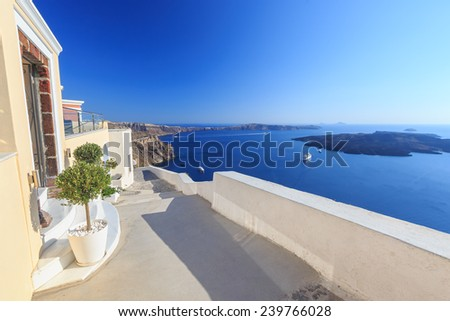 The architecture of Santorini in Greece. Oia #239766028