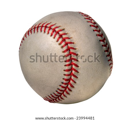 Grunge baseball isolated on white - Processed in HDR #23994481