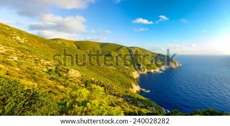 landscape of the beautiful island of Zante in Greece #240028282