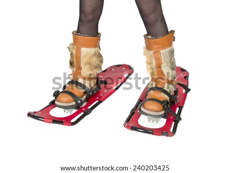 Snowshoes device for human walking in deep snow #240203425