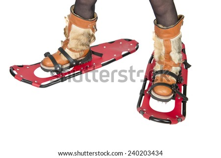 Snowshoes device for human walking in deep snow #240203434