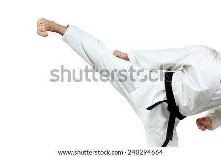 Man in karategi beats blow leg #240294664