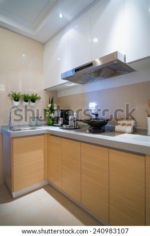 modern kitchen with nice cabinet #240983107