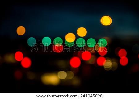 Bokeh traffic light background. #241045090
