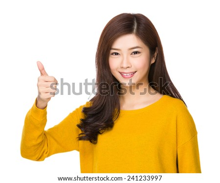 Woman with thumb up #241233997