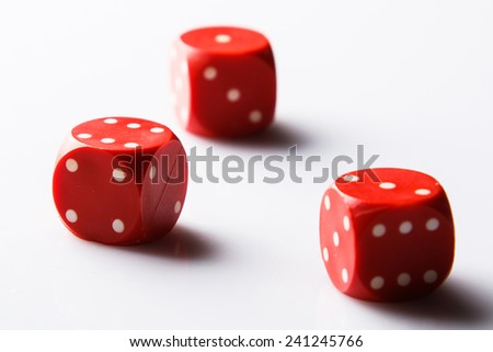 Red dices  on white background #241245766