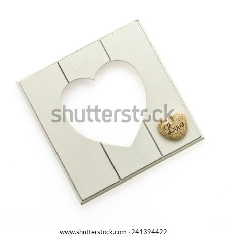 Heart photo frame isolated on white background