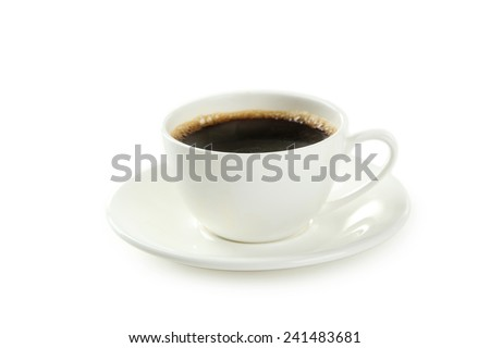 Cup of coffee isolated on white #241483681