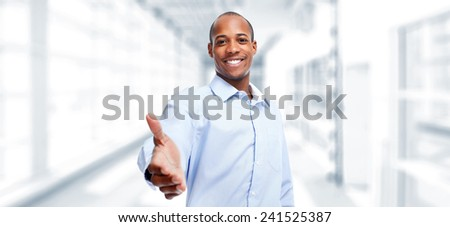 African-American businessman with handshake. success in business #241525387