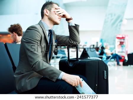 delayed flight Royalty-Free Stock Photo #241577377
