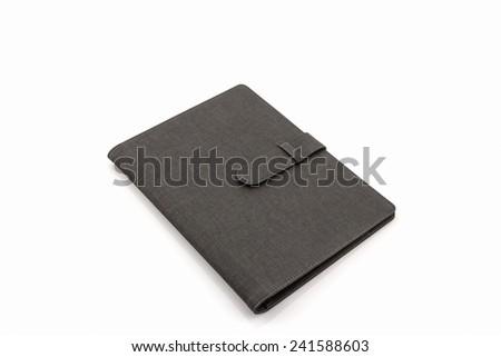 Black leather case on white background #241588603