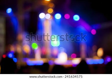 Blurred lights on stage