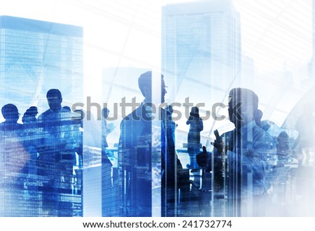 Business People Meeting Conference Seminar Sharing Strategy Concept #241732774
