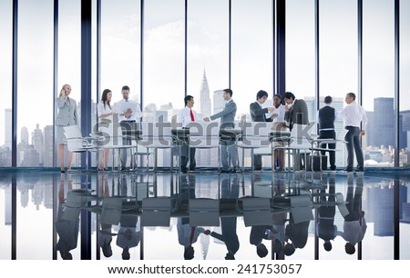 Business People Conference Meeting Handshake Global Concept #241753057