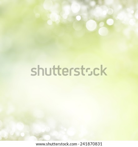 abstract spring background with bokeh effects.