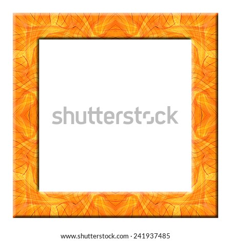 frame from color wooden isolated on white background