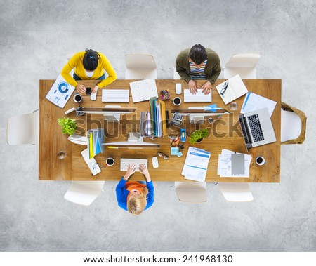 Business People Colleagues Teamwork Meeting Seminar Conference Concept #241968130