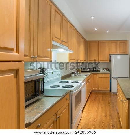Interior design of modern kitchen #242096986