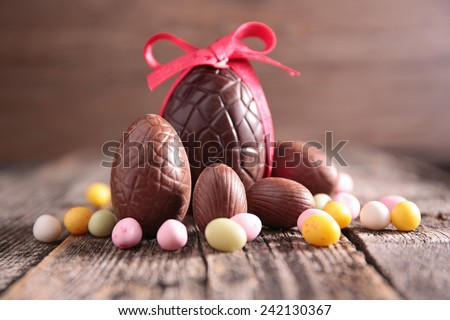 easter eggs Royalty-Free Stock Photo #242130367