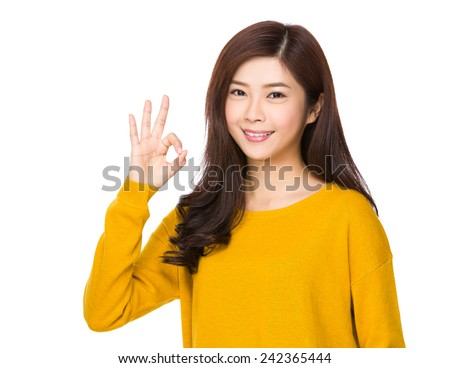 Woman with ok sign #242365444