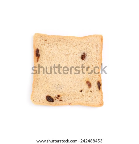 slice of bread on white background #242488453