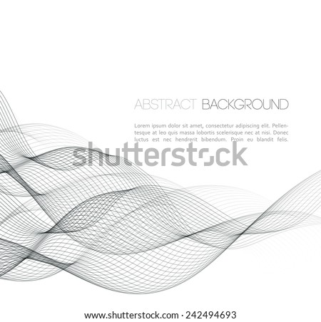 Abstract template background with wave design