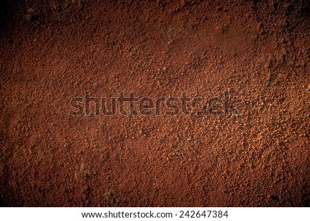 Image of red soil texture Royalty-Free Stock Photo #242647384