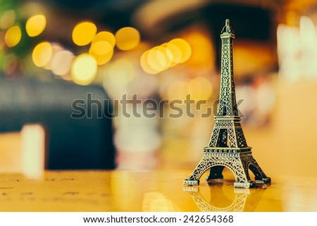 Eiffel toy - Vintage effect style pictures #242654368