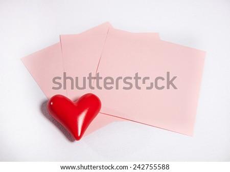 Write love letter in Valentine's day! #242755588