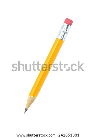 Lead pencil isolated on white background. Royalty-Free Stock Photo #242851381