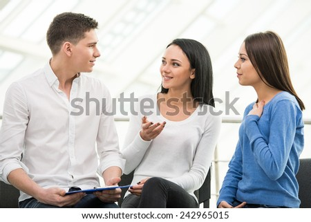 Meeting of support group, group discussion or therapy. #242965015