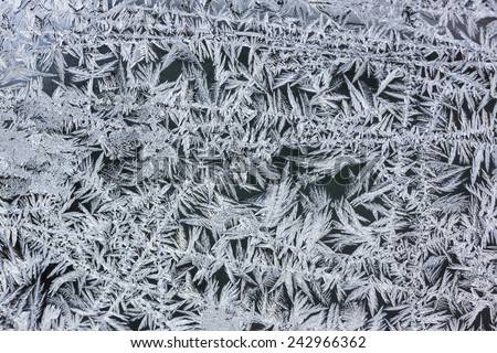 Frost texture on a window Royalty-Free Stock Photo #242966362