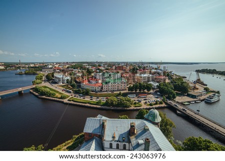 Vyborg, the view from the tower of the fortress #243063976