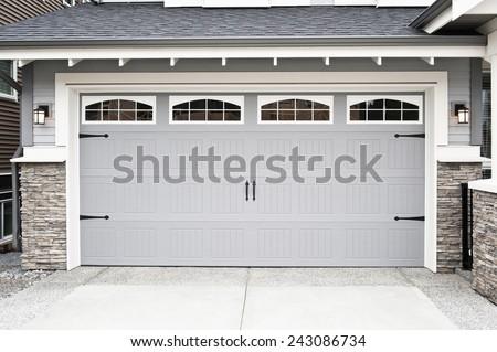 Garage Door Royalty-Free Stock Photo #243086734