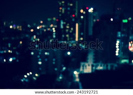 Abstract urban night light bokeh , defocused background #243192721