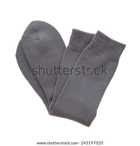 winter black sock for men isolated on white background   #243197020