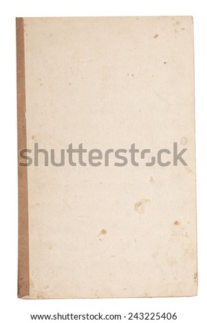 Old paper page isolated on white #243225406