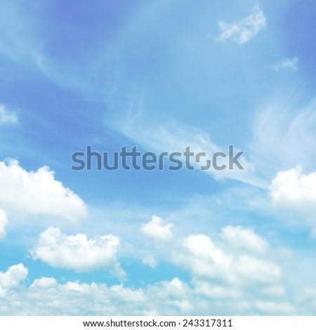 Cloud shapes in blue sky  #243317311