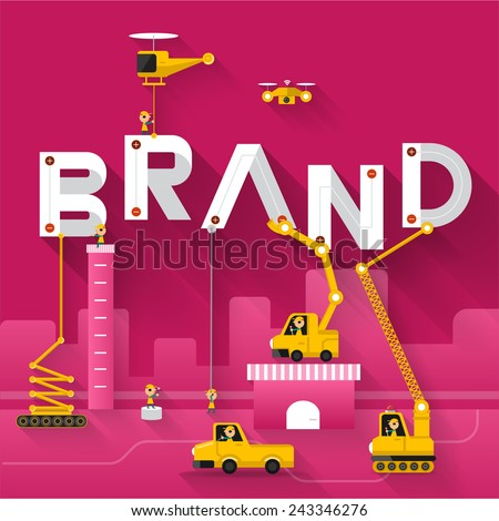 Engineering building text Brand. Vector Illustrate Royalty-Free Stock Photo #243346276