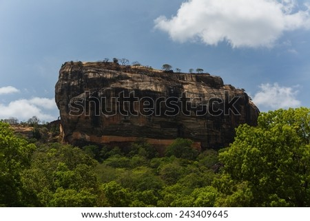 The famous Sigiriya rock in Sri Lanka #243409645