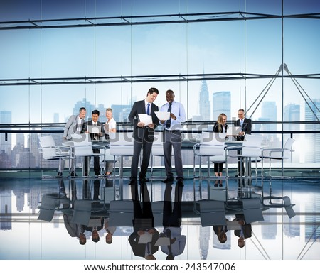 Diversity Business People Discussion Coorperation Meeting Concept #243547006