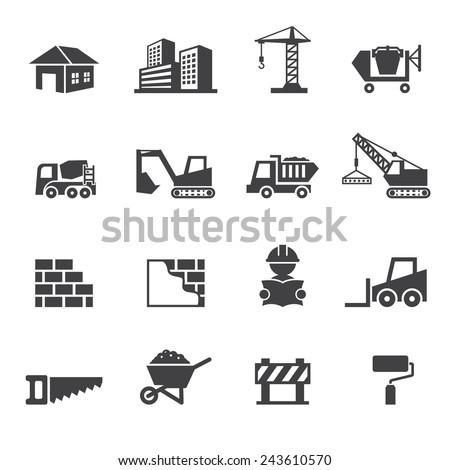 construction icon Royalty-Free Stock Photo #243610570