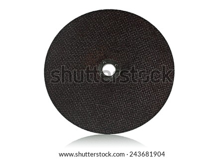 Cutting abrasive disc on a white background. #243681904