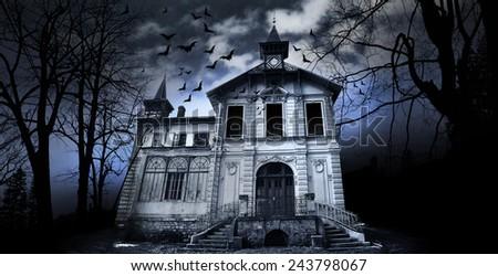 Haunted House Royalty-Free Stock Photo #243798067