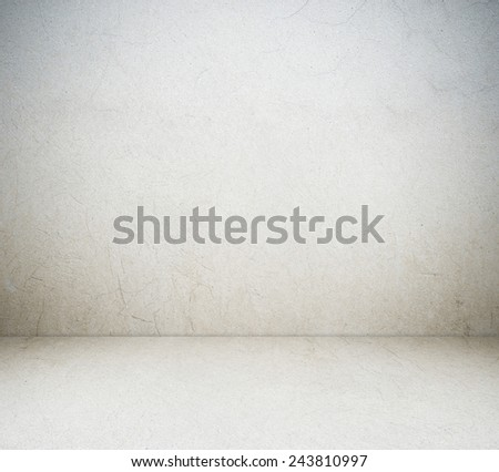 Empty cement room in perspective, gray tone, vintage, grunge background, template, display #243810997