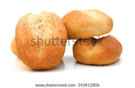 mini bread on white background  #243812806