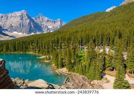 Majestic mountain lake in Canada. #243839776