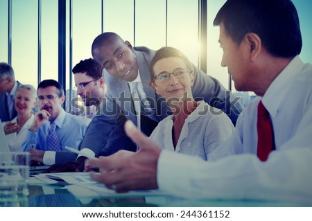 Business People Meeting Communication Discussion Working Office Concept #244361152